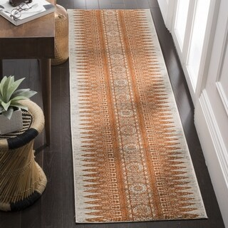 Safavieh Evoke Vintage Boho Chic Ivory / Orange Distressed Runner (2'2 x 7')