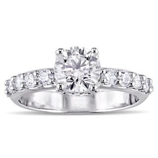 Miadora Signature Collection 18k White Gold 1 3/4ct TDW Diamond Engagement Ring