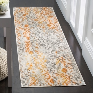 Safavieh Madison Vintage Cream/ Orange Distressed Area Rug Runner (2'3 x 6')