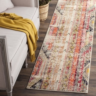 Safavieh Monaco Vintage Bohemian Light Grey / Multi Distressed Runner (2'2 x 16')