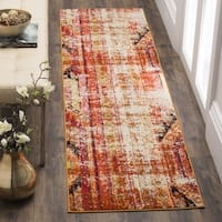 Safavieh Monaco Vintage Bohemian Orange/ Multi Distressed Runner Rug