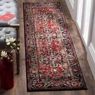 Safavieh Vintage Hamadan Traditional Red/ Multi Distressed Area Rug Runner (2'2 x 10')