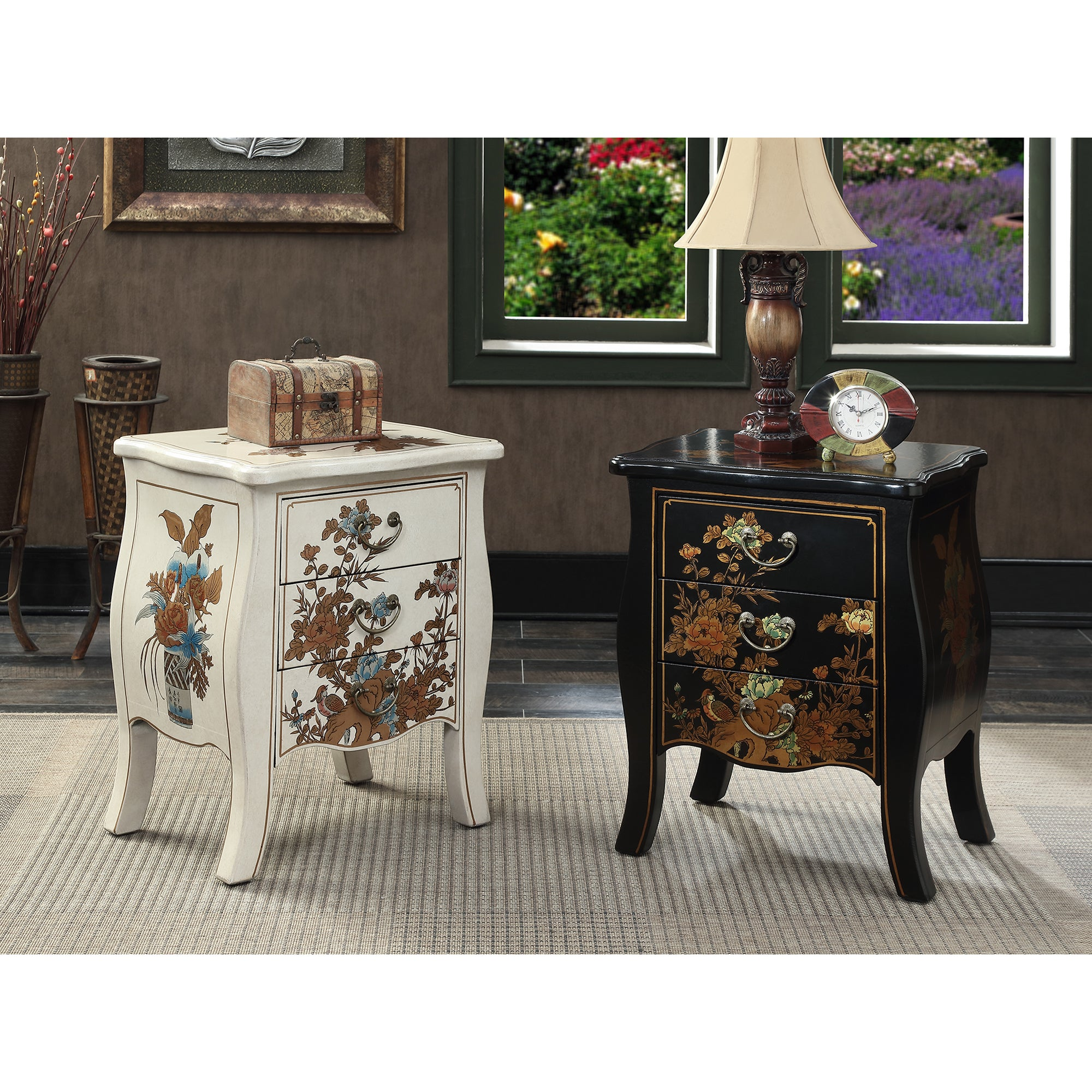 3 drawer end table cherry convenience concepts touch of asia drawer end table shop free