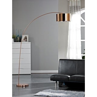 Artiva USA Adelina 81-inch Rose Copper Arched Floor Lamp