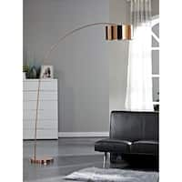 Artiva USA Adelina 81-inch Rose Copper LED Arched Floor Lamp