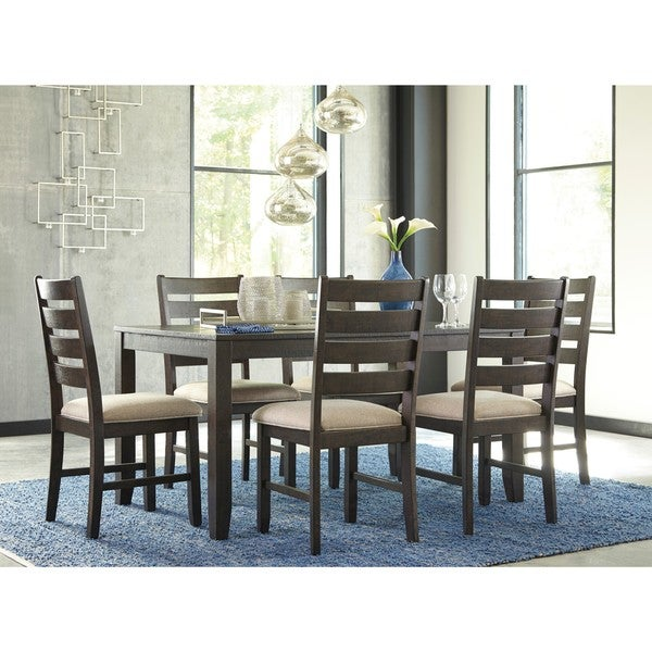 Signature Design By Ashley Rokane Brown 7 Piece Dining Room Table Set    Free Shipping Today   Overstock.com   20838044