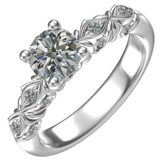 SS/CZ Classic Cubic Zirconia Engagement Ring