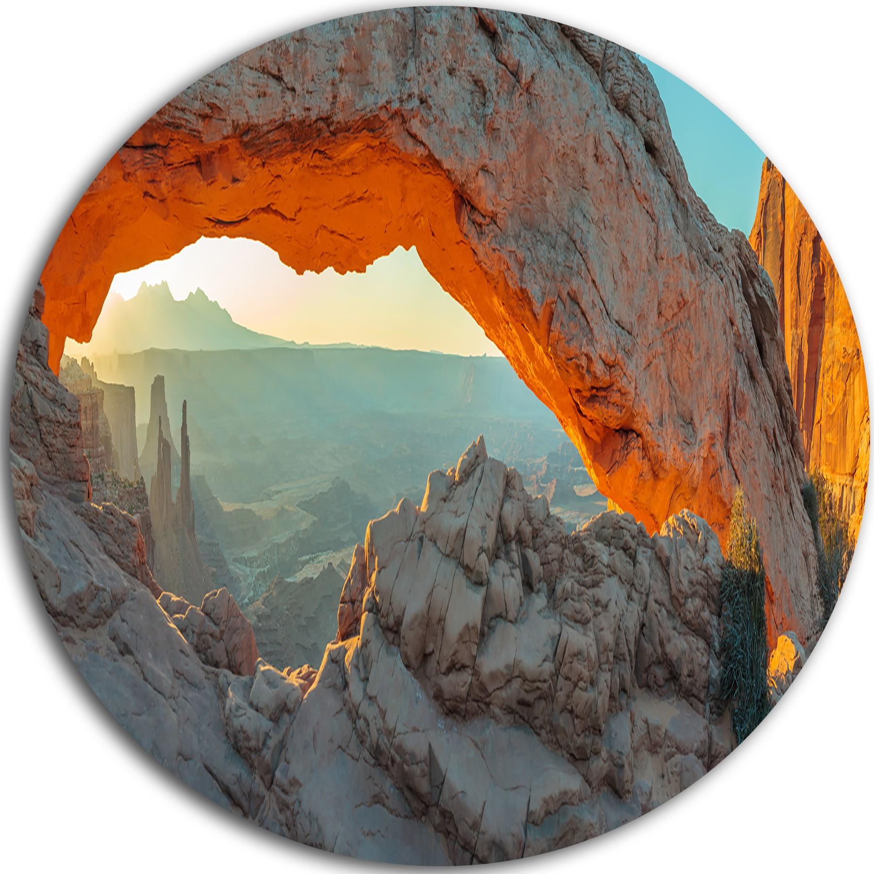 Designart Mesa Arch Canyon Lands Utah Park Landscape Circle Wall Art Overstock 14249260