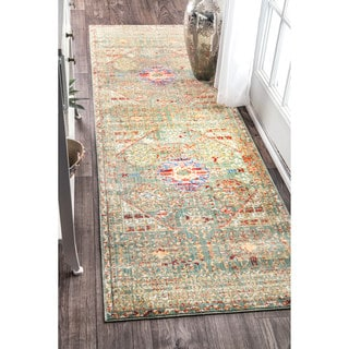 nuLOOM Vintage Persian Inspired Faded Medallion Runner Rug (2'6 x 8')