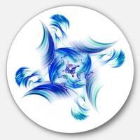 Designart 'Rotation of Small Universe Blue Flower' Floral Disc Metal Wall Art