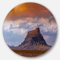 Designart 'Factory Buttle Utah Panorama' Landscape Disc Metal Artwork