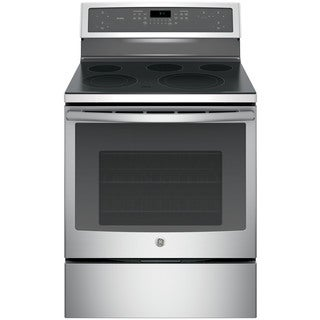 GE Profile Series Stainless Steel 30-in Free-Standing Electronic Convection Range