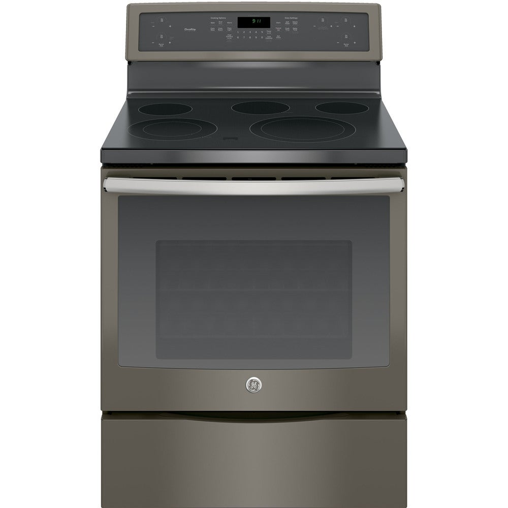 GE  Profile Series 30-inch Free-Standing Electric Convection Ran (slate)