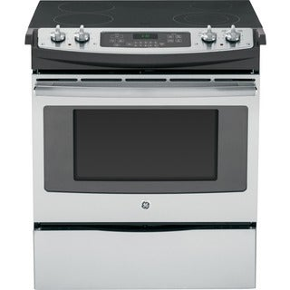 GE Stainless Steel 30-inch Slide-In Front Control Electric Range