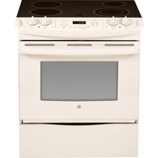GE 30-inch Slide In Front Control Electric Range