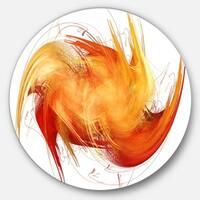 Designart 'Brown Abstract Fractal Pattern' Abstract Disc Metal Artwork