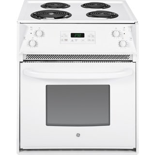GE White 27-inch Drop-In Electric Range