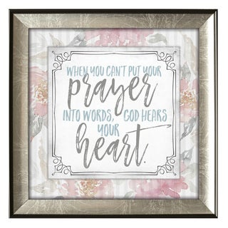 James Lawrence Subtle Kindness 'When You Can't Put Your Prayer' Framed Wall Art