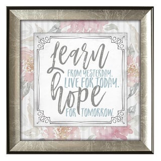 James Lawrence 'Learn From Yesterday' Subtle Kindness Framed Wall Art