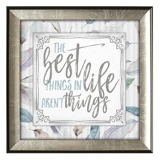 James Lawrence Subtle Kindness 'The Best Things' Framed Wall Art