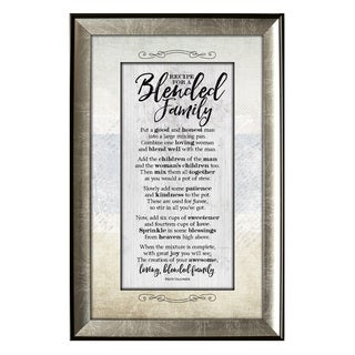 James Lawrence Recipe For Blended Family Soulful Journey Framed Wall Art