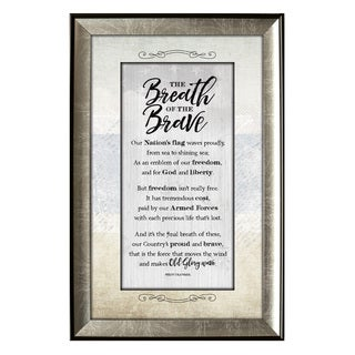 'The Breath Of The Brave Soulful Journey' Framed Wall Art