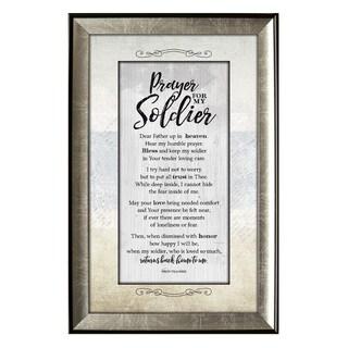 'Prayer for Soldier Soulful Journey' Framed Wall Art