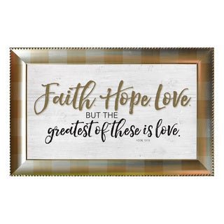 James Lawrence 'Faith. Hope. Love.' Framed Wall Art