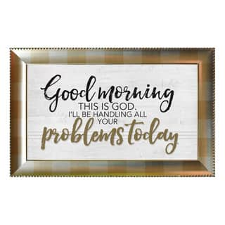 James Lawrence 'Good Morning' Framed Wall Art|https://ak1.ostkcdn.com/images/products/14249827/P20838625.jpg?impolicy=medium