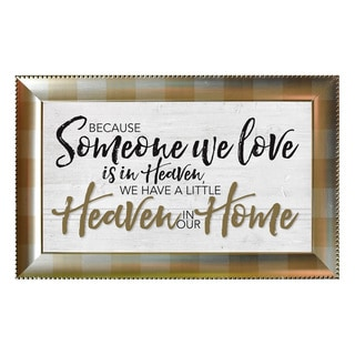 James Lawrence 'Because Someone We Love' Framed Wall Art