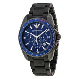 Emporio Armani Men's AR6121 'Sport' Chronograph Black Silicone Watch