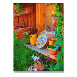 French Pottery 11x15 Indoor/Outdoor Full Color Cedar Wall Art