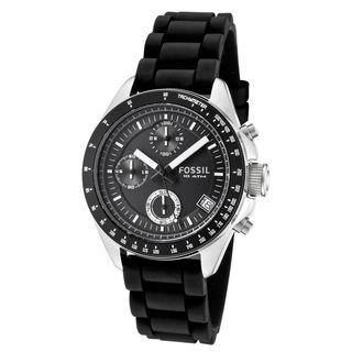 Fossil Men's CH2644 'Decker' Chronograph Black Silicone Watch