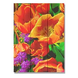Full Bloom 11x15 Indoor/Outdoor Full Color Cedar Wall Art