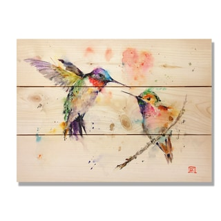 Love Birds 11x15 Indoor/Outdoor Full Color Cedar Wall Art