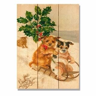 Sleigh Dogs 11x15 Indoor/Outdoor Full Color Cedar Wall Art