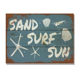 Sand Surf Sun 11x15 Indoor/Outdoor Full Color Cedar Wall Art