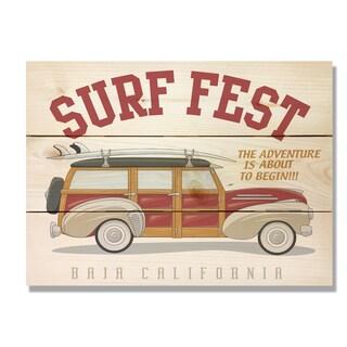 Surf Fest 11x15 Indoor/Outdoor Full Color Cedar Wall Art