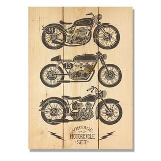 Vintage Motorcycle 11x15 Indoor/Outdoor Full Color Cedar Wall Art