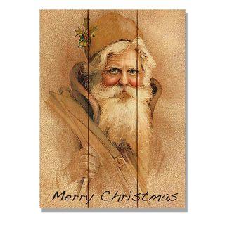 Father Christmas 11x15 Indoor/Outdoor Full Color Cedar Wall Art