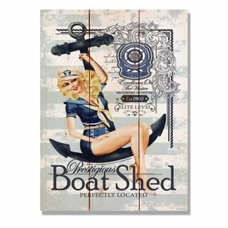 Prestigious Boat Shed 11x15 Indoor/Outdoor Full Color Cedar Wall Art