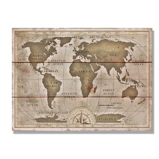 Old World Map 15x11 Indoor/Outdoor Full Color Cedar Wall Art