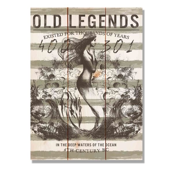 Old Legends Mermaid 11x15 Indoor/Outdoor Full Color Wall Art