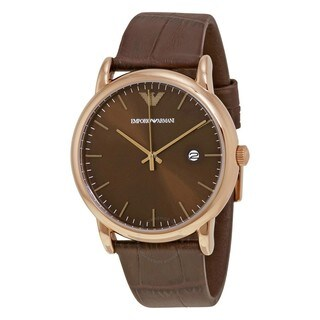 Emporio Armani Men's AR2503 'Dress' Brown Leather Watch