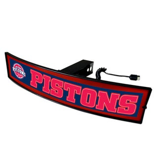 Fanmats NBA 'Detroit Pistons' Plastic Light-up Hitch Cover