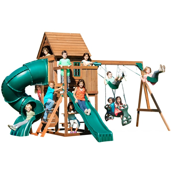 brook cedar slide play swing shop outdoor n playsets with best set swings monkey two