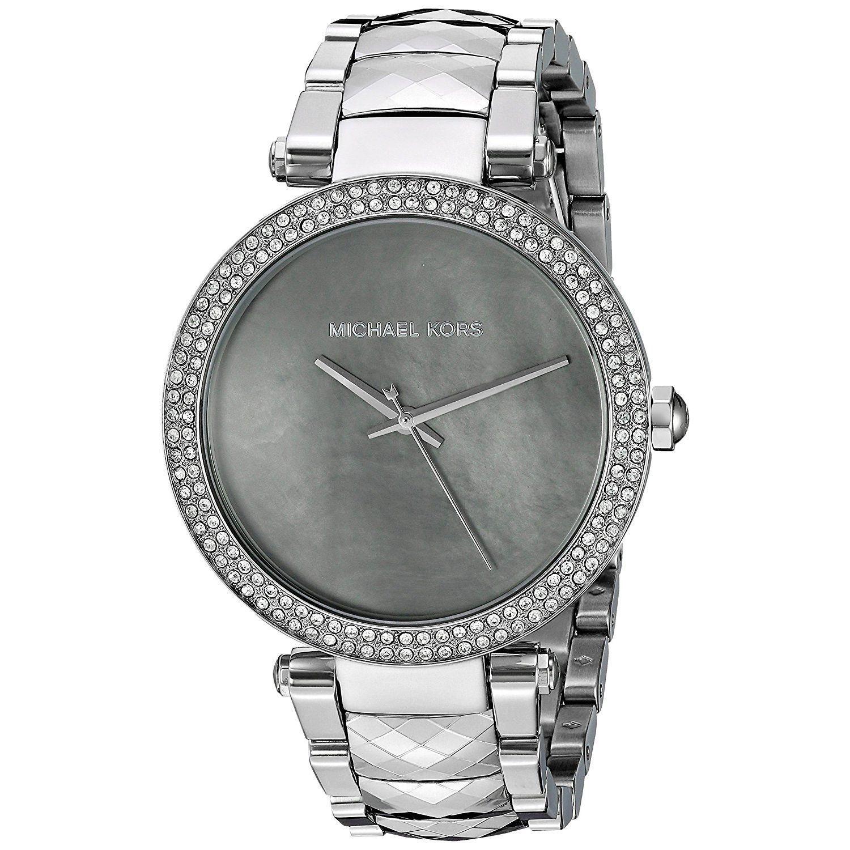 Michael Kors Womens MK6424 Parker Crystal Stainless Steel Watch - Two-Tone Michael Kors Womens MK6424 Stainless steel