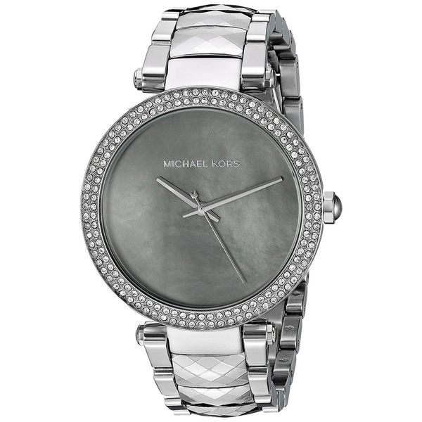 michael kors women 39 s mk6424 39 parker 39 crystal stainless steel watch free shipping today. Black Bedroom Furniture Sets. Home Design Ideas