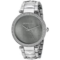Michael Kors Women's MK6424 'Parker' Crystal Stainless Steel Watch - Two-Tone