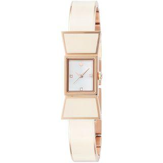 Kate Spade Women's 1YRU0671 'Carlyle' Crystal White Stainless Steel Watch